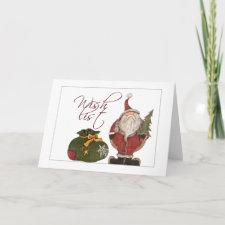 wish list holiday card card