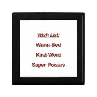 Wish List Jewelry Box