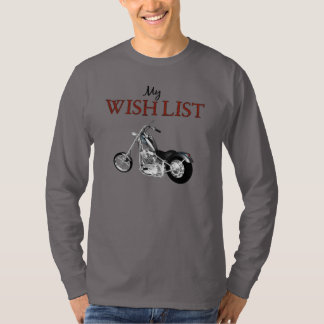 Wish List Motorcylce Mens' LS Shirt