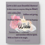Wish! Love is Beautiful and Eternal! Photo Plaques