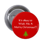 Wish Me A Merry Christmas button