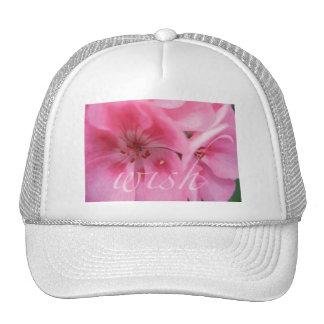 Wish Pink Geranium Flower Hat