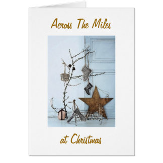 WISH SAYING IN PERSON-ACROSS MILES AT CHRISTMAS CARD