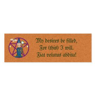 Wish Spell Card Mini Business Card