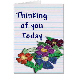 Wish them to get well with a flowery note-card. card