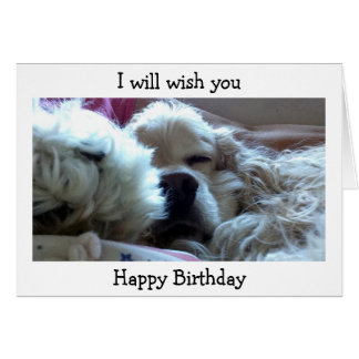 WISH U HAPPY BIRTHDAY WHEN I WAKE UP CARD