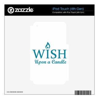Wish Upon a Candle Decals For iPod Touch 4G