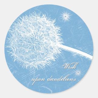 Wish upon a dandelion classic round sticker
