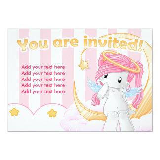 "Wish upon a star 5"" x 7"" invitation card"