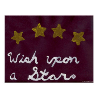 Wish Upon a Star Art Poster Print