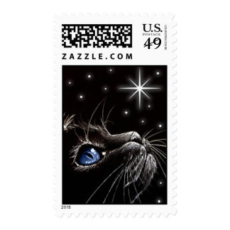 Wish Upon A Star Blue Postage Stamps