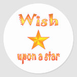 Wish Upon a Star Classic Round Sticker