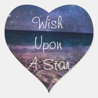 Wish Upon A Star Galaxy Beach Stickers