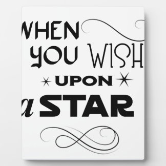 wish upon a star plaque
