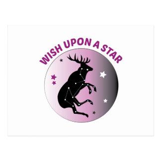 Wish Upon Star Post Card