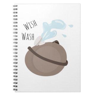 Wish Wash Spiral Notebooks