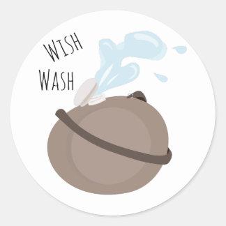 Wish Wash Round Sticker