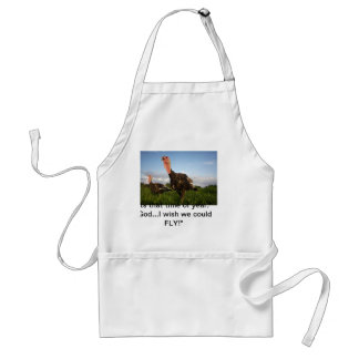 Wish we could fly adult apron