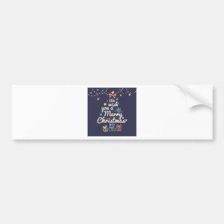 Wish you a Merry Christmas Bumper Sticker