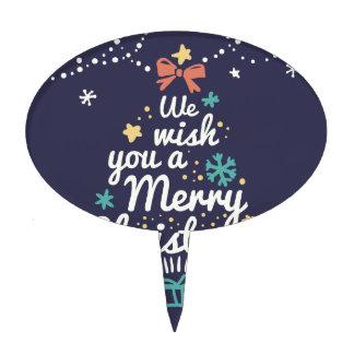 Wish you a Merry Christmas Cake Picks