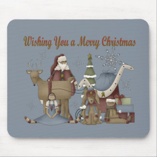 Wish You a Merry Christmas Mouse Pads