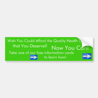 Wish You Could Afford...health plan sticker