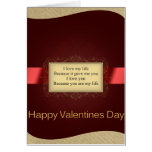 Wish you Valentine's Day Greeting Card