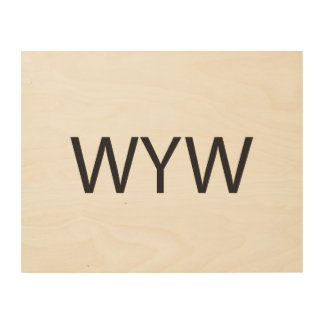 Wish You Well ai Wood Print