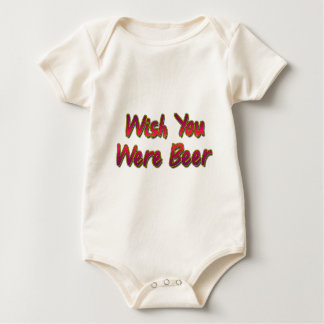 Wish-You-Were-Beer Baby Bodysuit