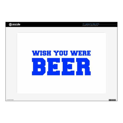 wish-you-were-beer-fresh-blue.png calcomanía para 38,1cm portátil