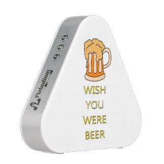 Wish you were beer funny design bluetooth speaker