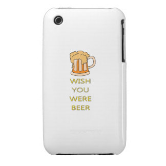 Wish you were beer funny design Case-Mate iPhone 3 case