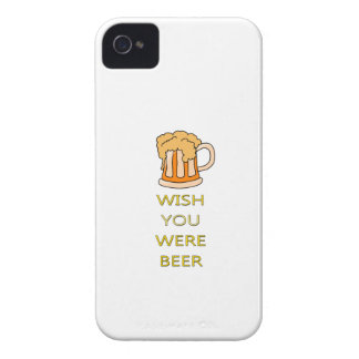 Wish you were beer funny design iPhone 4 cover