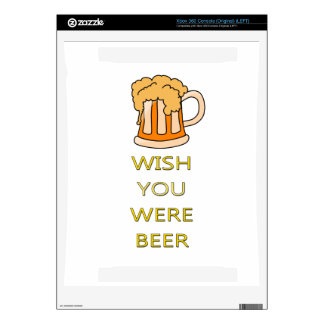 Wish you were beer funny design xbox 360 console skins