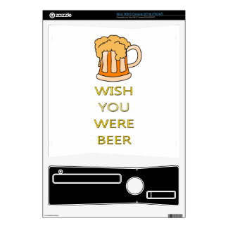 Wish you were beer funny design xbox 360 s decals