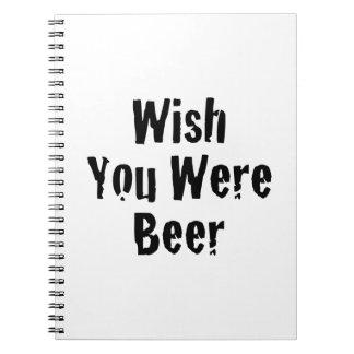 Wish You Were Beer Notebook