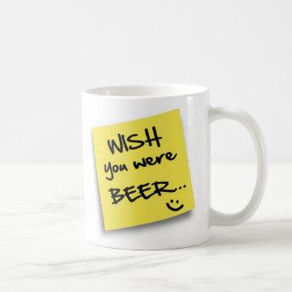 Wish You Were BEER Post Classic White Coffee Mug