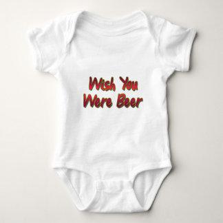 Wish-You-Were-Beer-(white) Baby Bodysuit
