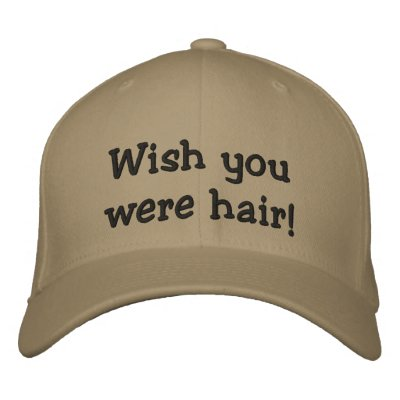 Wish you were hair! hAT Embroidered Hat