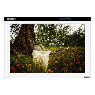 Wish You Were Here 140629 wording Laptop Skin