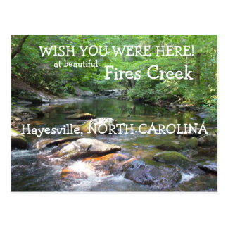 Wish you were Here at Fires Creek Postcard