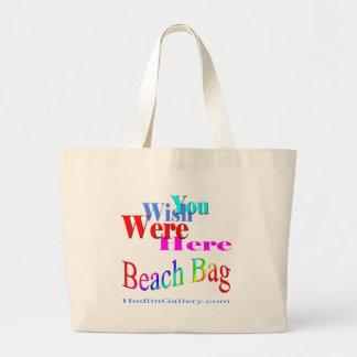Wish You Were Here Beach Bag