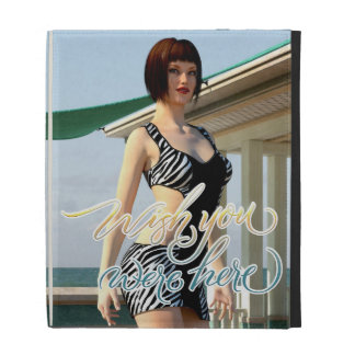 Wish You Were Here Belle iPad Folio Covers