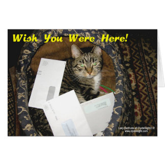 """Wish You Were Here"" card"