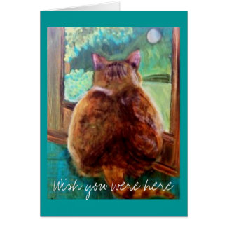 Wish you were here stationery note card