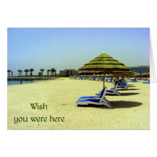Wish you were here - empty chairs at the beach card