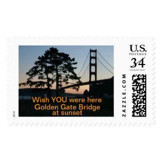 Wish YOU were here - GG Bridge CARD Postage