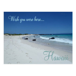 Wish you were here Hawaii beach scene postcard