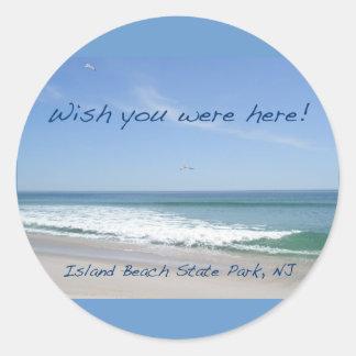 Wish You Were Here IBSP NJ Gulls Stickers