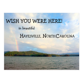 Wish you were here in Hayesville, North Carolina Postcard